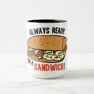Sandwich custom name mugs