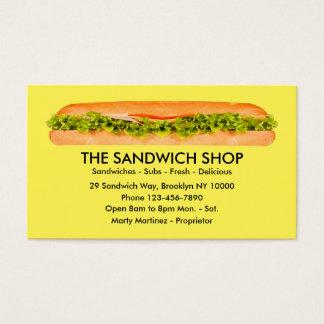 Sandwich Restaurant Businesscards Business Card