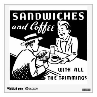 Sandwich Shop Wall Art Wall Decal