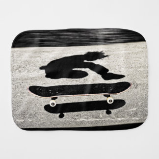 sandwiched skateboard burp cloth