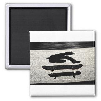 sandwiched skateboard square magnet