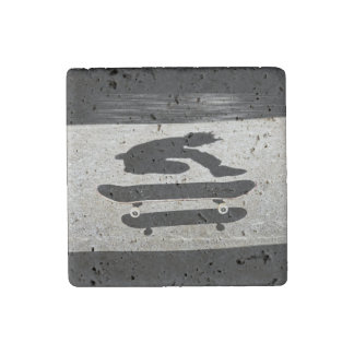 sandwiched skateboard stone magnets