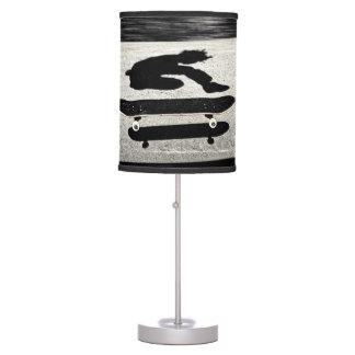 sandwiched skateboard table lamp