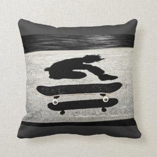 sandwiched skateboard throw pillow