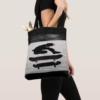 sandwiched skateboard tote bag