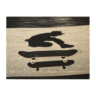 sandwiched skateboard wood print