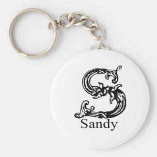 Sandy Basic Round Button Keychain