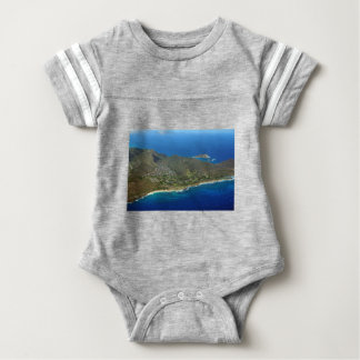 Sandy Beach Aerial Baby Bodysuit