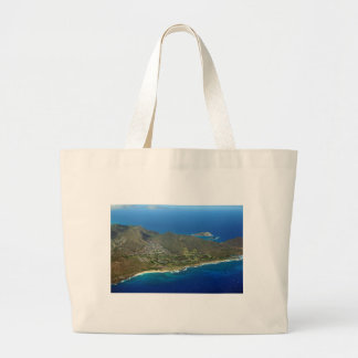 Sandy Beach Aerial Large Tote Bag