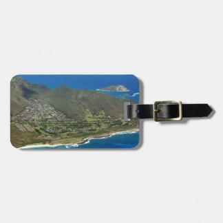 Sandy Beach Aerial Luggage Tag