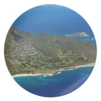 Sandy Beach Aerial Plate