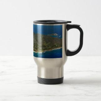 Sandy Beach Aerial Travel Mug