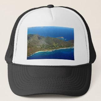 Sandy Beach Aerial Trucker Hat