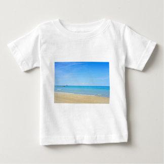 Sandy beach and blue Mediterranean sea Baby T-Shirt