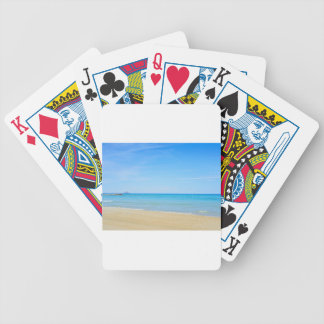 Sandy beach and blue Mediterranean sea Bicycle Playing Cards