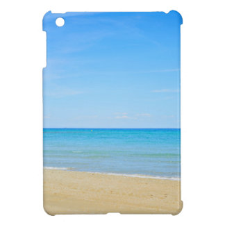 Sandy beach and blue Mediterranean sea iPad Mini Covers