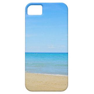 Sandy beach and blue Mediterranean sea iPhone 5 Case
