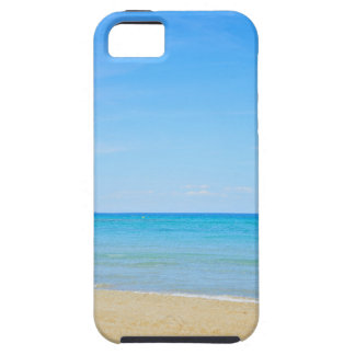 Sandy beach and blue Mediterranean sea iPhone 5 Covers
