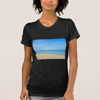 Sandy beach and blue Mediterranean sea T-Shirt