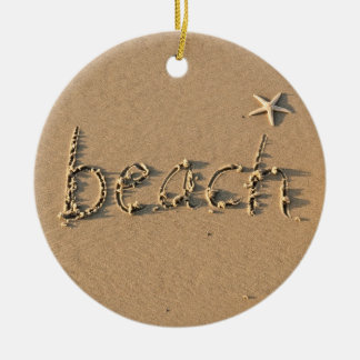 Sandy Beach  and Starfish Christmas Ornament