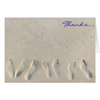 SANDY BEACH Bar Bat Mitzvah Thank You Card