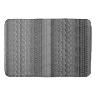 Sandy Beach Car Tire Trace Grey Bath Mat