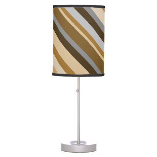 Sandy Beach Colors Inspired Striped Pattern Table Lamp