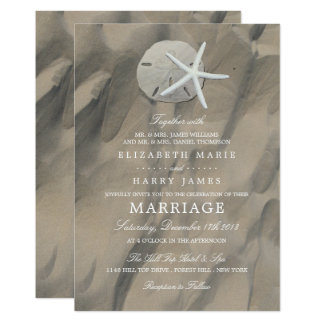 Sandy Beach Display Wedding Card