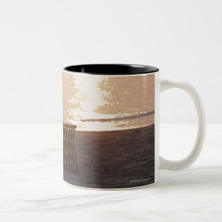Sandy Beach of Sunset 2 Two-Tone Coffee Mug