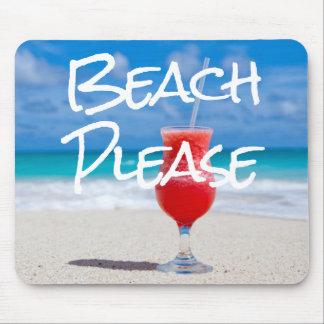 Sandy Beach Please Red Daiquiri Drink Mouse Pad
