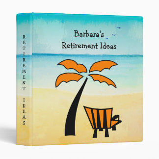 Sandy Beach Retirement Ideas 3 Ring Binders