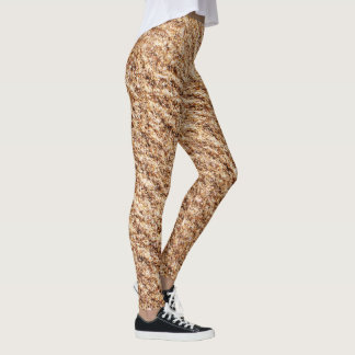 Sandy Browns Pattern Leggings