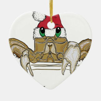 Sandy ClawsTrans Ceramic Heart Ornament