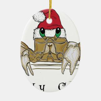 Sandy ClawsTrans Ceramic Oval Ornament