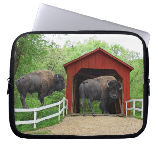 Sandy Creek Covered Bridge Creative Photography Laptop Sleeve