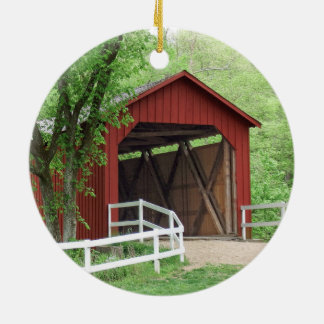 Sandy Creek Covered Bridge Hillsboro, Missouri Ceramic Ornament