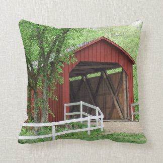 Sandy Creek Covered Bridge Hillsboro, Missouri Throw Pillow
