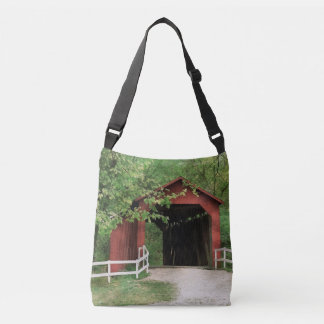 Sandy Creek Covered Bridge In Water Color Crossbody Bag