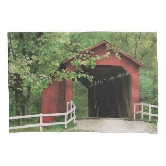 Sandy Creek Covered Bridge In Water Color Pillowcase
