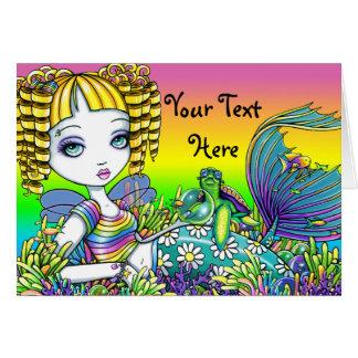 """""""Sandy"""" Cute Rainbow Fairy Mermaid Art Card"""
