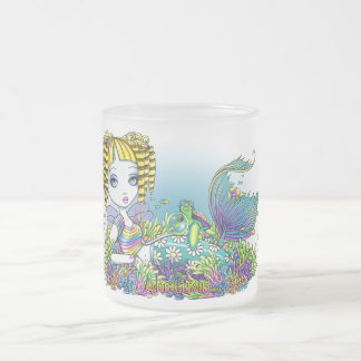 """Sandy"" Cute Rainbow Fairy Mermaid Art Frosty Mug"