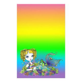 """Sandy"" Cute Rainbow Fairy Mermaid Art Stationery"