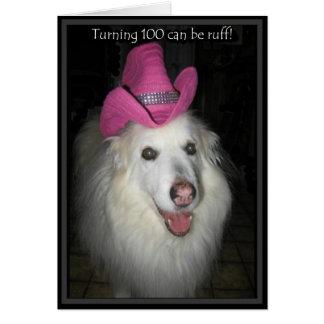 *Sandy Dog - 100th Birthday Card