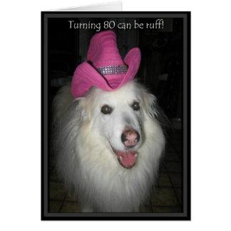 *Sandy Dog - 80th Birthday Card