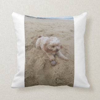Sandy doggo throw pillow