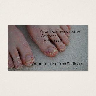 sandy feet, business card