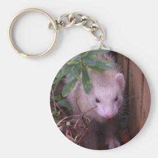 Sandy Ferret Basic Round Button Keychain