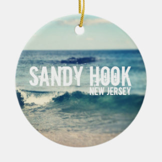 Sandy Hook- 2013 - Recovery at the Jersey Shore Round Ceramic Ornament