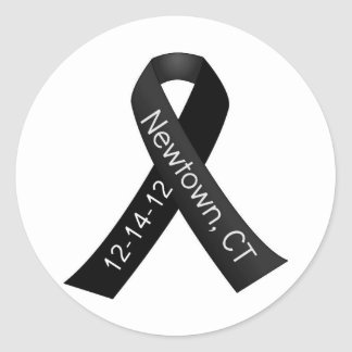 Sandy Hook Elementary Newtown Shooting Memorial Round Sticker