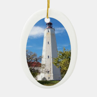Sandy Hook Lighthouse Ceramic Ornament